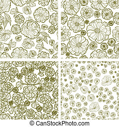 Vector set of seamless patterns - Vector set of seamless...