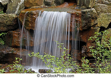Waterfall in Lower Saxony, Germany - Waterfall in the casino...