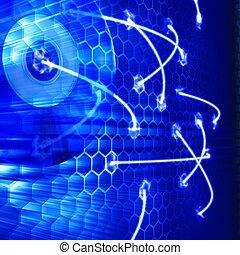 Data transfer. Technology 3d render