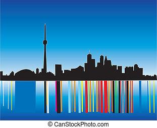 Toronto Skyline Silhouette - drawing of the Toronto skyline...
