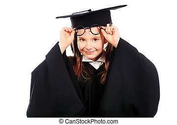 graduated girl - Portrait of a cute girl in a graduation...