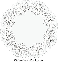 Cake Lace Paper - Scalable vectorial image representing a...