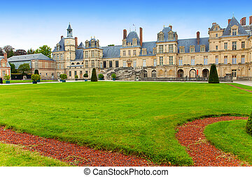 France. Park and a palace of Fontainebleau