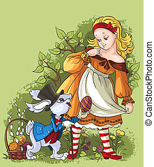 Alice and the White Rabbit - Easter composition with heroes...