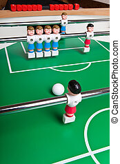 Toy football players