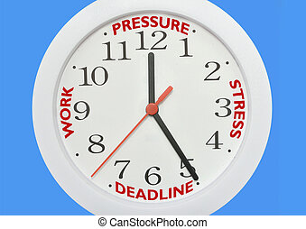 Time deadline - Working against the clock concept