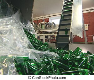 Escalator lift plastics for production PET bottles