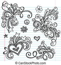 Sketchy Doodle Design Elements