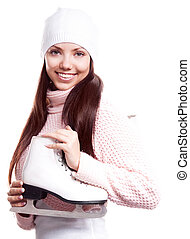 woman going ice-skating
