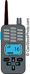 portable radio - illustration of a portable radio or walkie...