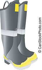 firemans slipon boots - black slip on firefighter boots...