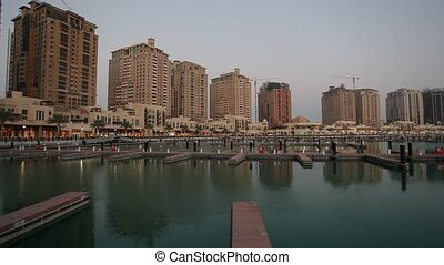 Marina in The Pearl, Doha, Qatar, Middle East