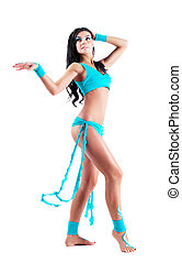 dancer with body art - beautiful sexy dancer with body art,...