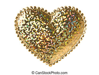Golden Heart Shape