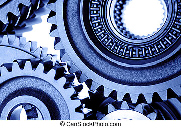 Cogs - Closeup of steel cogs together