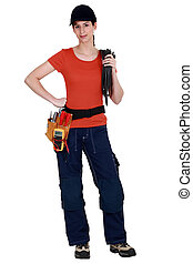 Woman electrician