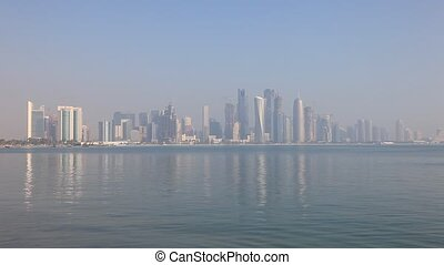 Skyline of Doha, Qatar - Skyline of the Doha downtown...