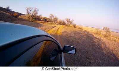 Driving at country road, POV