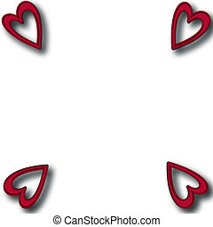 Valentines Day background with hear