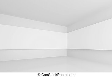 Gallery Interior - 3d Illustration of White Gallery Interior...