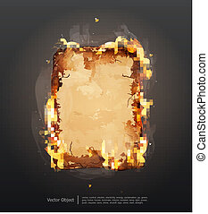 glowing ancient parchment - background with glowing ancient...