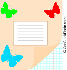vector writing-book for writing; clip-art