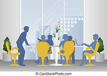Business meeting - A vector illustration of business meeting...