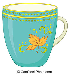 Cup with a pattern