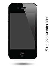 touch screen smartphone vector