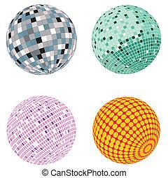 Vector disco ball set