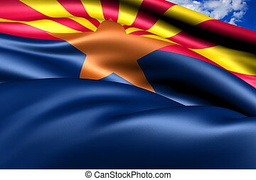 Flag of Arizona. Close Up.