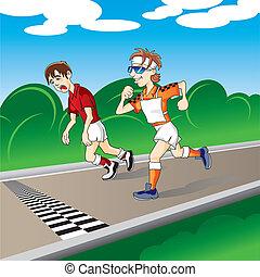 Images et illustrations de marathon 7 757 illustrations - Image coureur humoristique ...