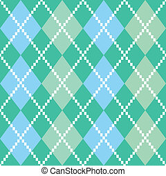 Retro colorful argile pattern or background - blue and green...