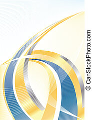 Vector abstract gold and blue background