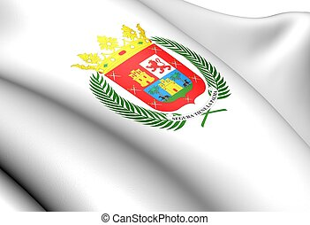 Las Palmas de Gran Canaria Flag, Spain. Close Up.