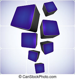 cube abstract background. vector illustration