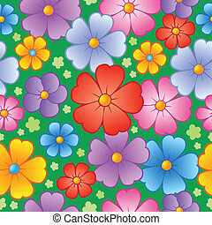 Flowery seamless background 6 - vector illustration