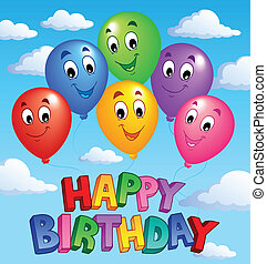 Happy Birthday topic image 3 - vector illustration.