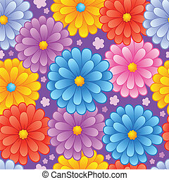 Flowery seamless background 4 - vector illustration.