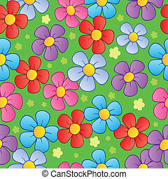 Flowery seamless background 1 - vector illustration