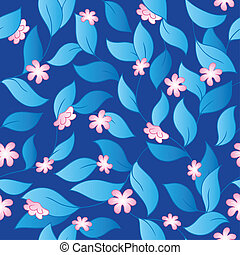 Flowery seamless background 3 - vector illustration.