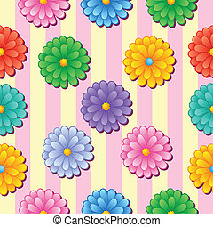 Flowery seamless background 5 - vector illustration