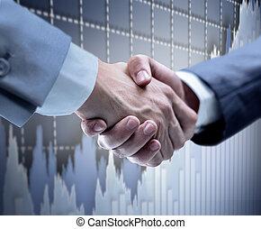 Handshake - Hand holding on black - Handshake - Hand holding...