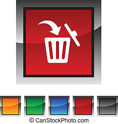 Delete icons. - Delete icon set. Vector illustration.