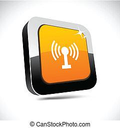Radio 3d square button.