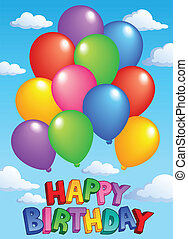 Happy Birthday topic image 4 - vector illustration.