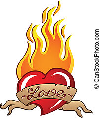Heart theme image 3 - vector illustration