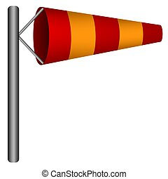 Windsock Wind Sock Windy Icon - Illustration of an isolated...