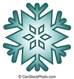 Snow Flake - Illustration of an isolated blue snow flake.