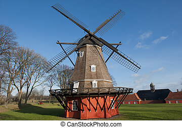 Windmill - Windmill in Kastellet fortress in Copenhagen